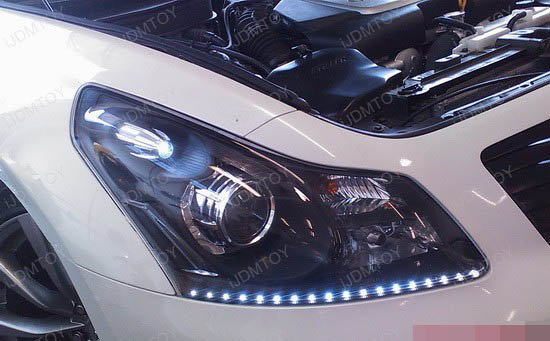 Infiniti - G35 - LED - strip - headlights - 3